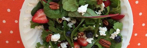 Blog blueberry salad with goat cheese
